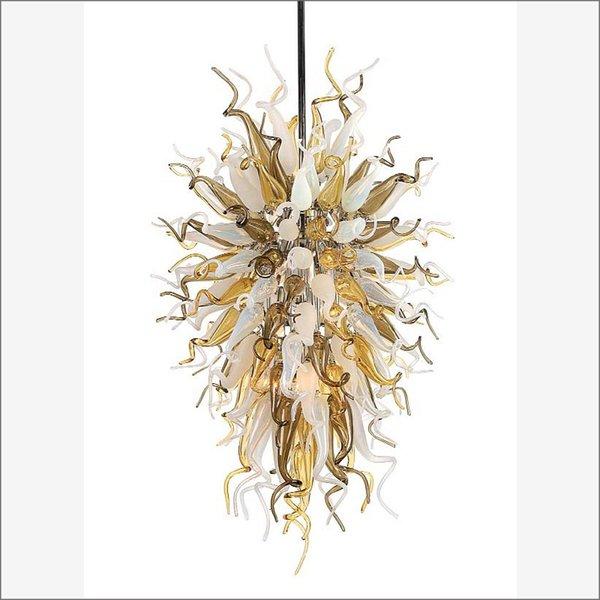 Lampadari decorativi unici in vetro soffiato di Murano Lampade di design superiore Lampadario in cristallo di vetro soffiato colorato a mano per soggiorno