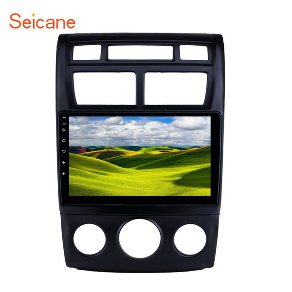 Quad-core 9 inch Android 9.0 car Stereo GPS Navigation for 2007-2017 KIA Sportage Auto A/C with Bluetooth music WIFI USB support 4G car dvd