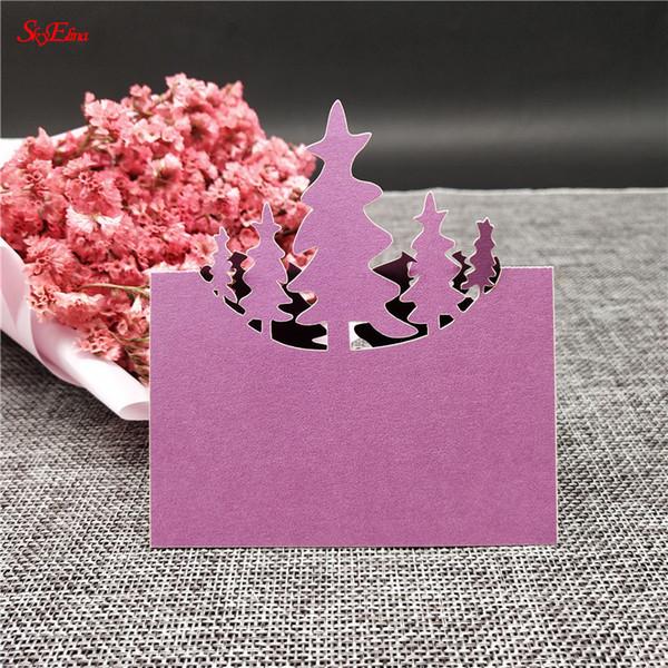 20pcs albero taglio laser tabella nome segnaposto decorazione di cerimonia nuziale favori di partito carta di perle tavolo posto carta forniture di nozze 6ZSH221