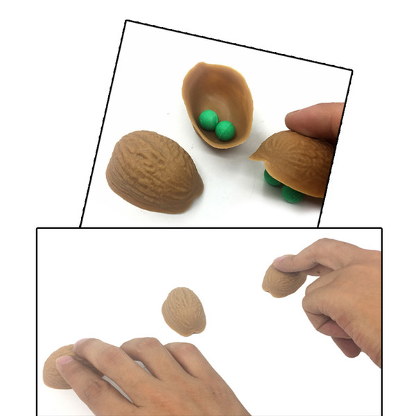 Magic Trick Set Three Shell Game 3 Walnut Shell y 5 Soft Ball Amazing Creative Shell Trick Magic Props Professional