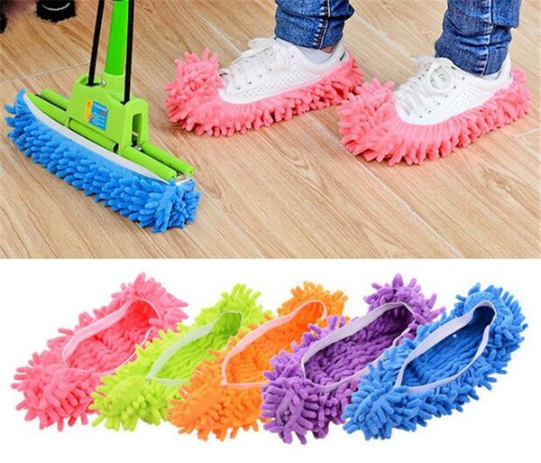 Toz Temizleyici Otlatma Terlik Banyo Zemin Temizleme Paspas Temizleyici Terlik Tembel Ayakkabı Kapak Mikrofiber Duster Bez