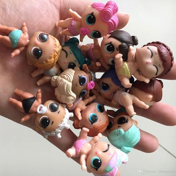 8шт различного рода лол Bebek куклы LOL модель игрушки Обучающие Новизна Дети Распаковка LOL куклы Бал девушка Действие игрушки Цифры Подарки