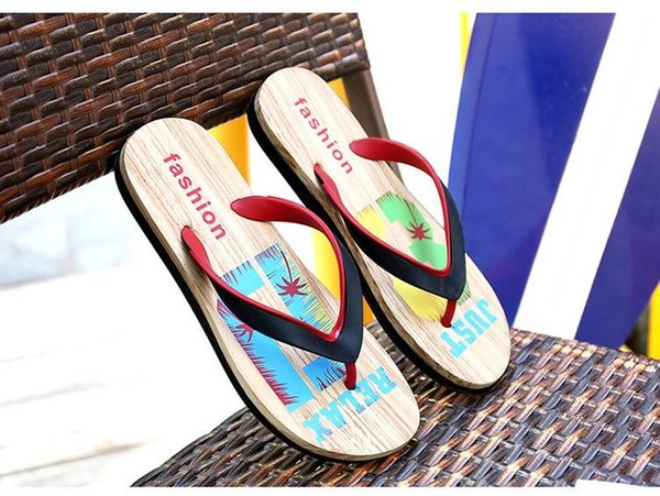 Hot sale Designer Rubber Non-slip sandals slippers for men Designer flower printed beach flip flops slipper summer Hawaii Beach slippers