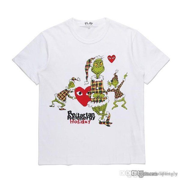 2018 COM wholesale New Best Quality CDG New TARO OKAMOTO JAPAN Limited Play Heart Tee Holiday HOMME PLUS Vest Docking T Shirt