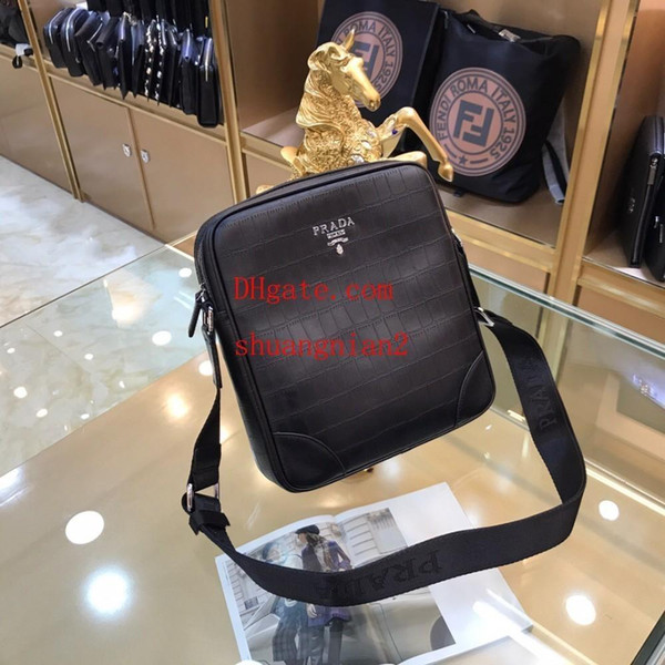 Simple Style Men S Umhängetasche Hohe Kapazität Rindsleder Vertikale Messenger Casual Mini Rucksack Flut Paket Handtaschen