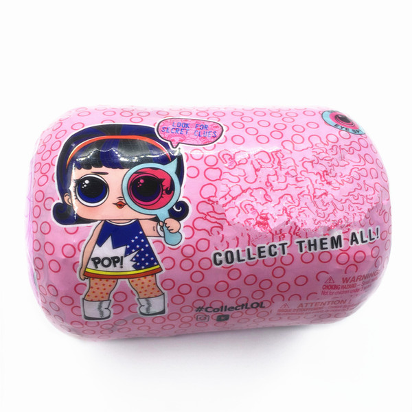 best selling 11cm Spy Eye Series under wraps Doll pink red Magic Egg Ball Action Figure Toy Kids Unpacking Dolls Girls Funny Dress Up Gift Christmas