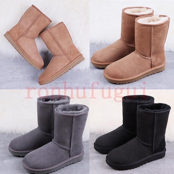 2020 news fashion classic australia winter snow boots luxury designer women mini II leather boots new arrival short bow boots ankle boo8996#