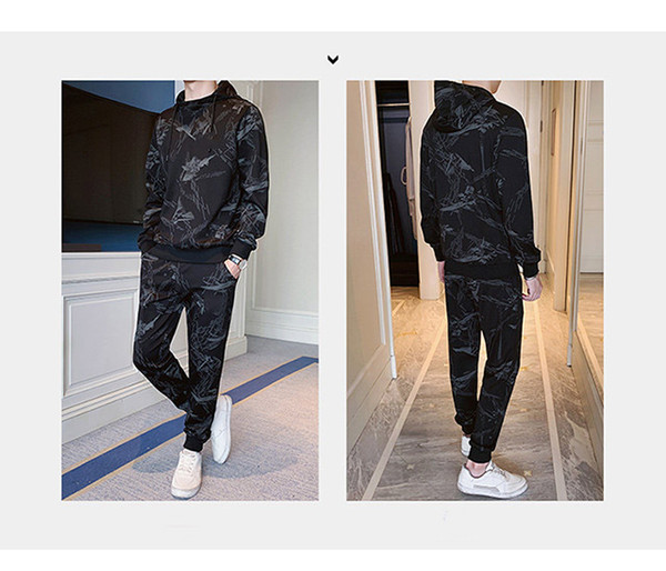 2019 Nueva llegada Mens Designer Chándales Sudadera + Pantalones Deportes Running Casual Activo con talla M-5XL Chándales de alta calidad B100153Q