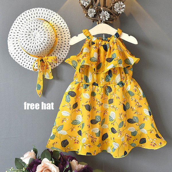 Kids Dresses For Girls Beach Dress 2019 Summer Toddler Girls Casual Bohemian Princess Dresses Children Clothing 3 4 5 6 7 Year