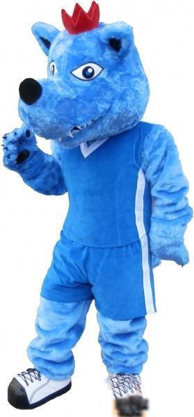 2019 Factory-Outlet-heiß Kundenspezifische blaue Wolf-Maskottchen-Kostüm-Buchstaben-Kostüm geben Verschiffen frei