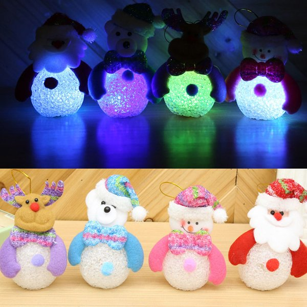 Cute Snowman LED Battery Operated Rainbow Changing Night Light Christmas Tree Decoration Gift Event Party Supply