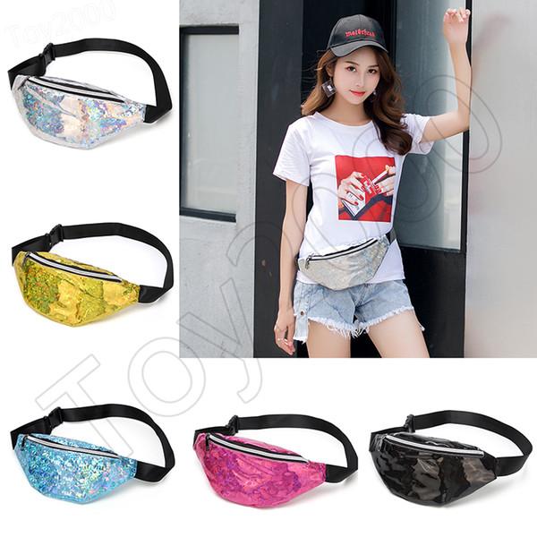 5styles Mermaid Glitter Waist Bag Sequin Fanny Pack Beach Travel shinning Girl Outdoor Cosmetic Bag party outdoor Sport coin handbag