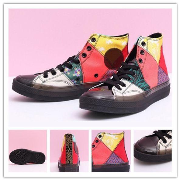 2019 Nuevo 1970s Chuck Casual Shoes Sports jalea de cristal Año nuevo chino Diseñador de lienzos Marca de cuero Mujer Zapatos para hombre Zapatillas