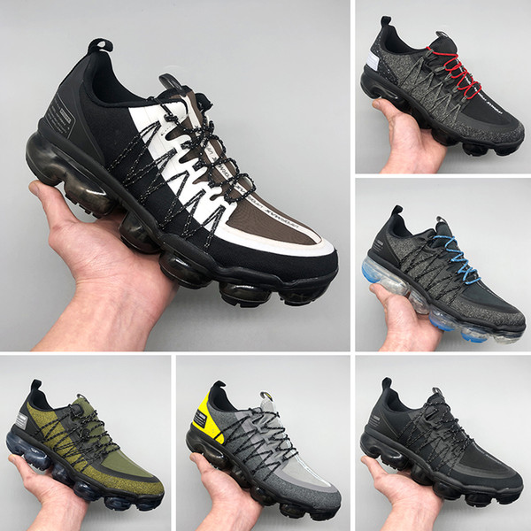 Nike Air VaporMax Run Utility 2019 TN PLUS Homens Mulheres Sapatos de Grife Preto Velocidade Vermelho Branco Jogo Royal Anthracite Ultra Branco Preto Tênis De Corrida Sneakers
