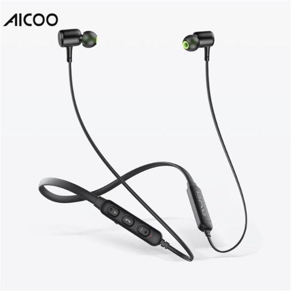 Aicoo Wireless Sport In-Ear Headset Auriculares Bluetooth Estéreo Auriculares Auriculares para iPhone Samsung LG Moto Caja de venta al por menor
