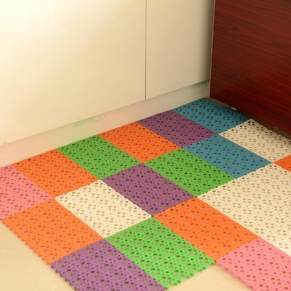 hollow plastic bath mats candy color non-slip bathroom massage carpets shower mats toilet floor mats 30x20cm