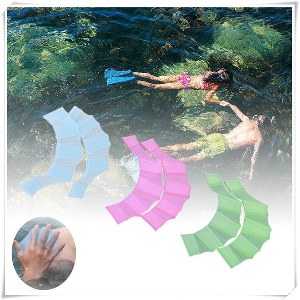 Water Sports Silicone Swim Gear Fins Hand Web Flippers Silicone Training 1 Pair Gloves Women Men Kids Webbed Gloves For Swimming
