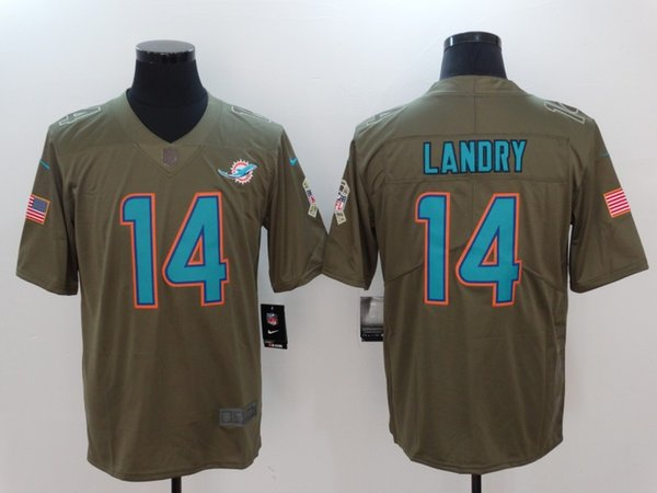 newest collection 29623 7681c 2018 2019 New Mens 14 Jarvis Landry Jerseys Miami Dolphins Football Jersey  100% Stitched Embroidery Jarvis Landry Color Rush Football Shirt From ...