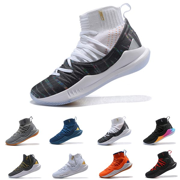 newest f7293 b1e65 2019 Cheap Stephen Curry 5 Basketball Shoes Stephen Mens UA Curry 5  Championship MVP Finals Sports Training Sneakers Run Shoes Size 40 46 From  ...