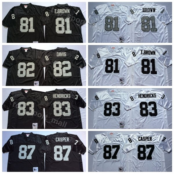 new style 68945 7fe1f 2019 Men Football 81 Tim Brown Jersey Oakland Raiders Vintage 82 AI Davis  87 Dave Casper 60 Otis Sistrunk 83 Ted Hendricks Black White From ...