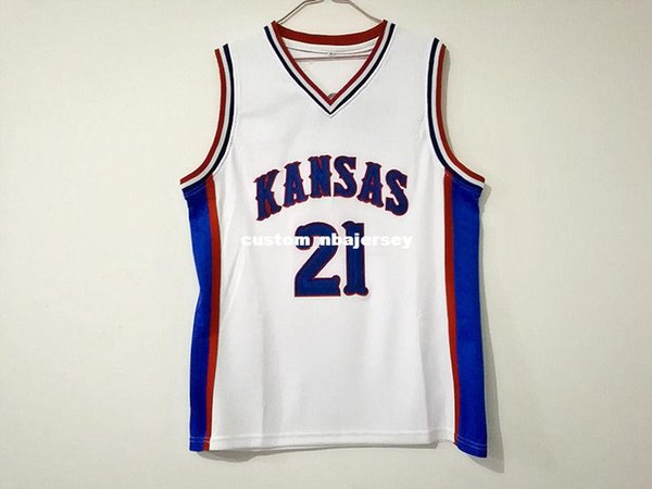 Cheap custom Joel Embiid 21 Kansas Jayhawks College Sewn Basketball Jersey Stitched Customize any number name MEN WOMEN YOUTH XS-5XL