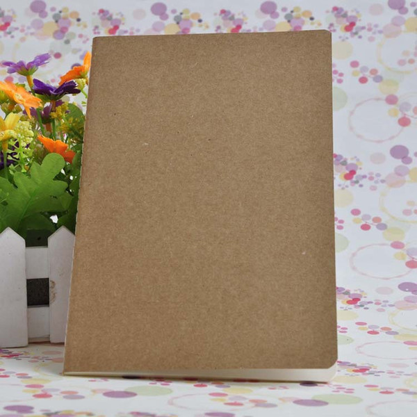best selling 2019 A5 Notebooks Sketchbook Diary Drawing Painting Graffiti Small Soft Kraft Cover Blank Paper Notepads for writing School Office Supplies