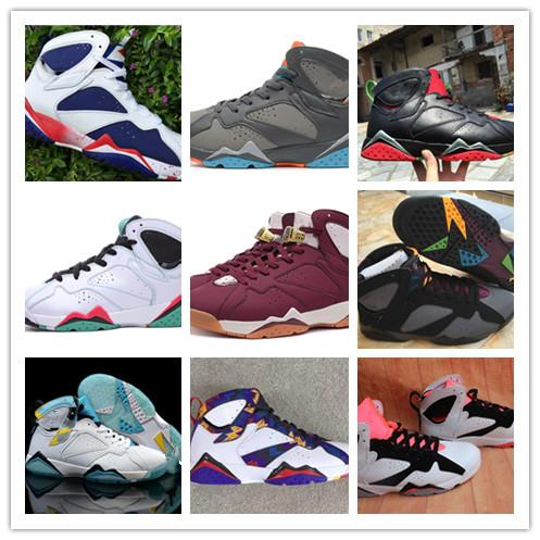 With box 7 Nothing But Net Bordeaux Verde GS Hare Fuchsia Glow Olympic Men basketball shoes mens sports shoes womens outdoor sneakers 36-46