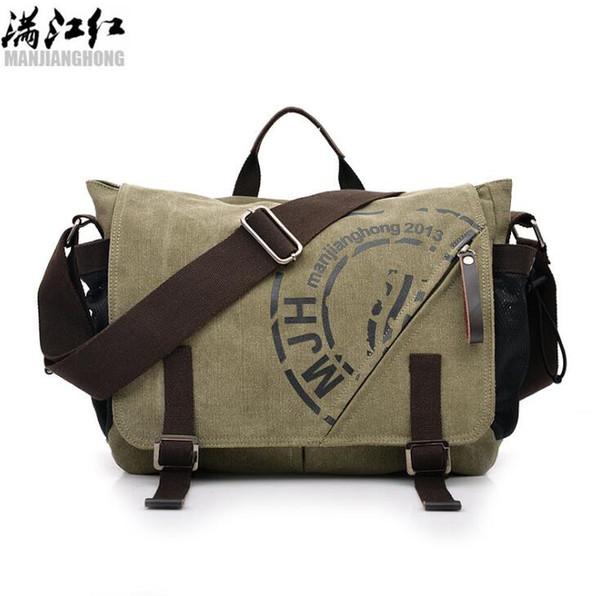 Wholesale brand men handbag high quality wear-resistant canva shoulder bag outdoor leisure belts decorated men Messenger bag fashion printed