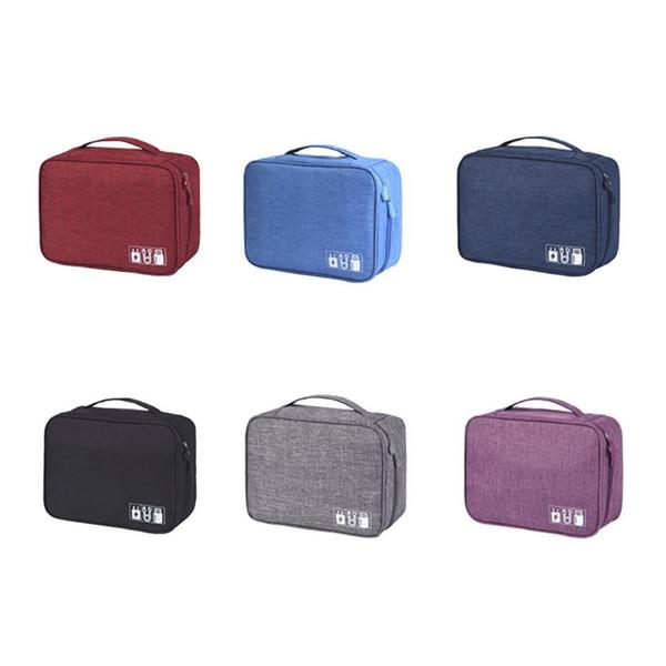 Clé USB de voyage Sac de rangement pour organisateur de sac Pochette de stockage numérique Câble d'écouteur