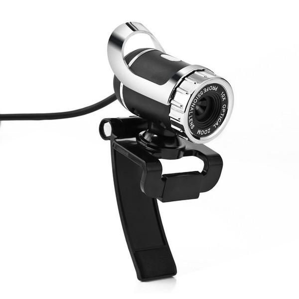 100pcs webcam USB Caméra haute définition Web Cam 360 degrés MIC clipser pour ordinateur