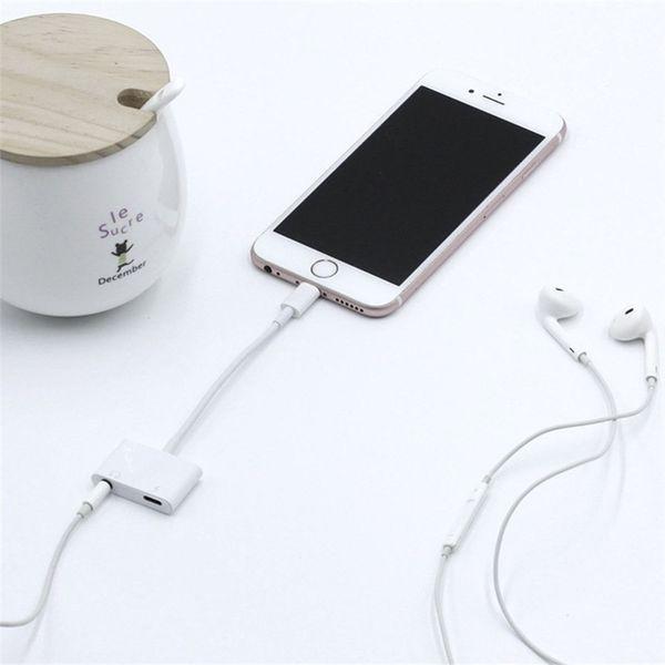Adaptador de audio para auriculares Música para iPhone 8 Plus X XS IOS 12.14 máx. Para iluminación de 3,5 mm para auriculares Jack Cargador de carga auxiliar