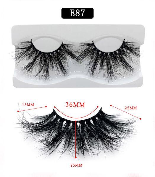 25mm Mink eyelashes crossed messy curly fake lashes soft & vivid eyelashes extensions 15 styles available DHL Free false eyelash