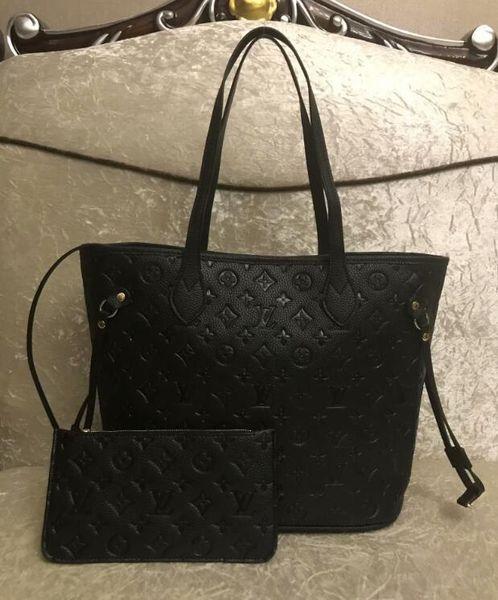 2020 nouvelle vente chaude dames de qualité classique sac à main occasionnel avec le portefeuille et le sac à main en cuir PU.