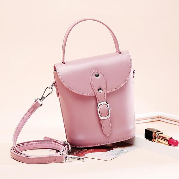 Individual2019 Trend Ma'am Hundred Take The Hand Handbag Tempo libero Borsa in vera pelle Messenger Mini-secchiello singola borsa piccola