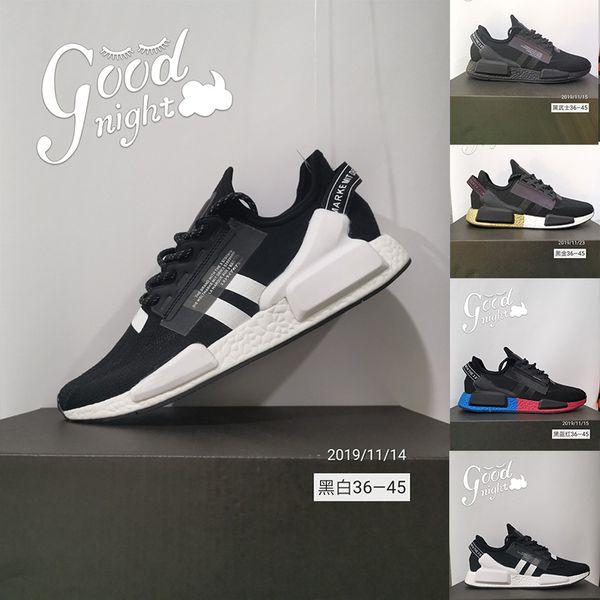 koşu ayakkabıları ucuz 2020 NMD R1 v2 stok x men kadınlar çekirdekli siyah beyaz altın açık erkek eğitmenler spor ayakkabı boyutu OG 36-45