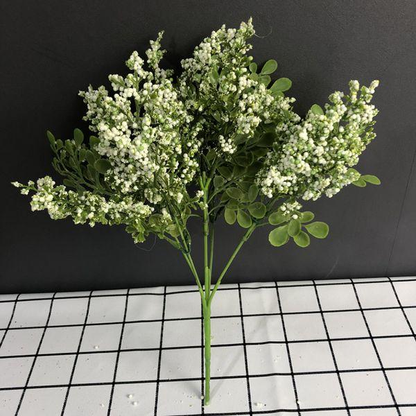 Artificial Bouquet 5 Fork Foam Fruit Simulation Lover Plastic Grass Bouquets Flower Arrangement Florals Modern Warm Home Floral