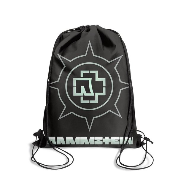 Sports backpack Rammstein band fashion popular personalizedpackage adjustable yoga backpack athletic sack pouch pull string Backpack