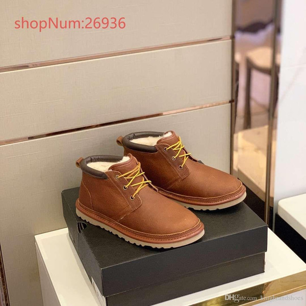 Luxury Shoes Winter 2019 New Style Men Snow Boots Lace Up Hort Boots High  Quality Keep Warm Casual Cotton Shoes Yellow Brown Shoes Online Basketball