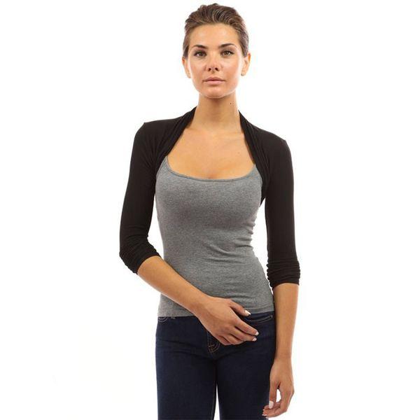 Womens Jacket Womens Coat Womens Long Sleeve Bolero Shrug Casual White Long Sleeve Open Stitch Women Outerwear Coats Drop Shipping