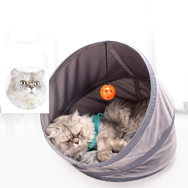 High Quality Stacked Tent Cat Litter Pet Nest Kennel Soft Cat House For Small Kitten Cotton Winter Warm Puppy Bed Tent S/M