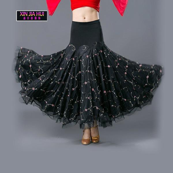 Nuevo patrón Señora Danza moderna Medio cuerpo Falda de péndulo Vals Estándar nacional Amistad Longuette Disfraz de danza del vientre