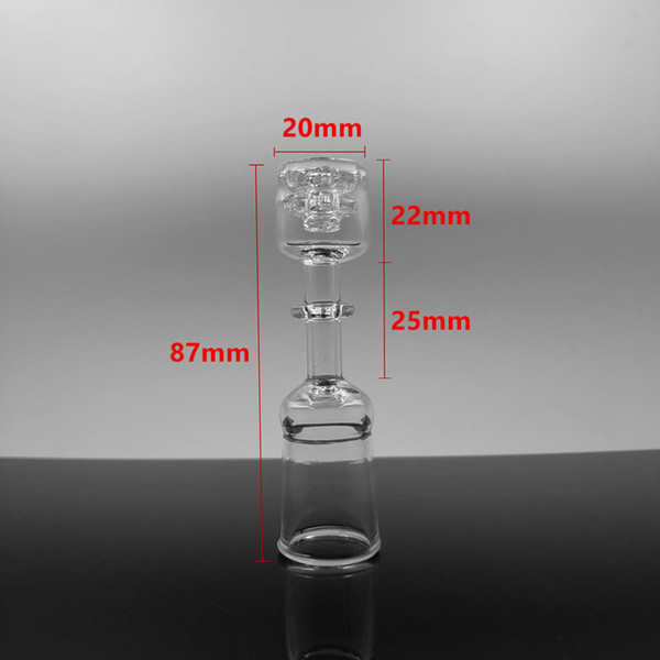 2019 Diamond Knot Quartz Domeless Nail 10mm 14mm 18mm Female Clear Joint Glass Bongs Wter Pipes