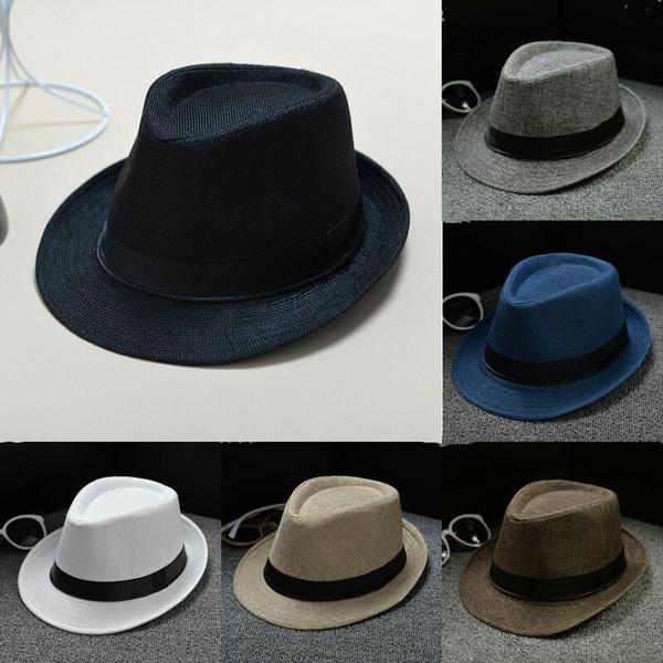 Moda Erkek Bayanlar Straw Fötr Fedora Şapka Yaz Güneş Kap Plaj Parti Şapkaları Yeni