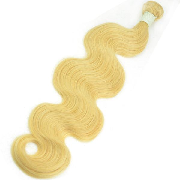 Body Wave Remy Blond Trame De Cheveux Indiens 1 Pièce Blanchie 613 Blonde Droite Meilleure Vierge Bundle de Cheveux Humains 24 pouces 26 pouces 28 pouces 30 pouces échantillon