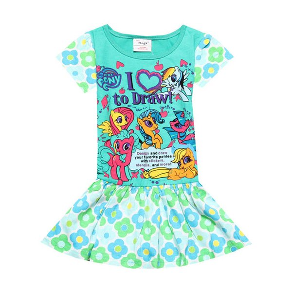 2019 2019 New Baby Princess Dresses Kids Summer Clothes Girls Dresses  Cotton Casual Dresses Kids Dress Kids Designer Clothes Girls Wear A3462  From