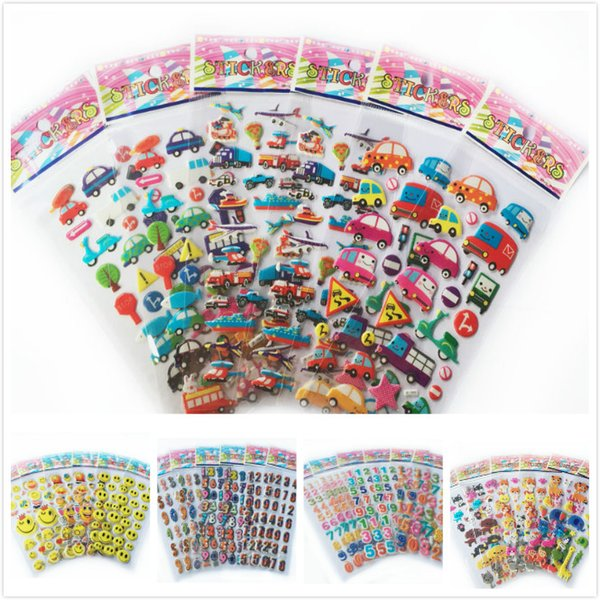 top popular Classic Toys Sticker 10pcs lot mix color letter smile car animal zoo 3D foam stickers party supplies decoration kids gift children toys WYQ 2019
