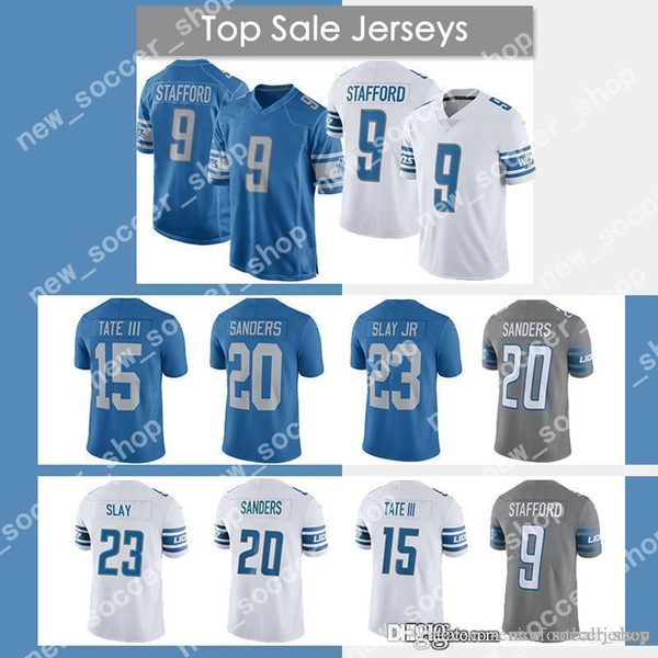 buy online 46676 deeaf 2019 Detroit Lions Jersey 9 Matthew Stafford 23 Darius Slay JR 20 Barry  Sanders 15 Golden Tate III Mens Football Jerseys From Seniorfootballjersey,  ...