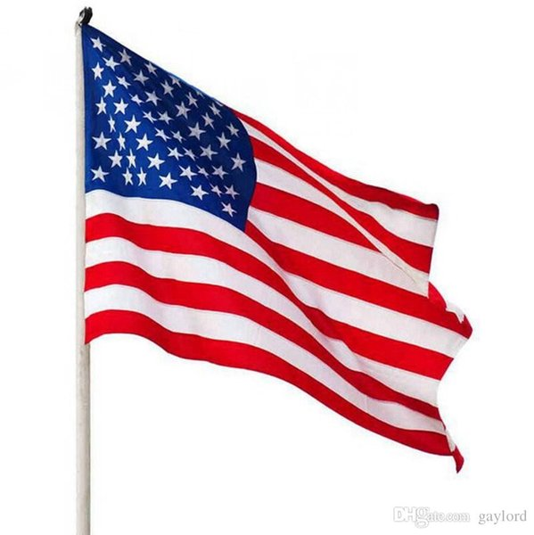 5pcs 90x150cm American Flag Polyester US Flag USA Banner National Pennants Flag of United States 3x5 ft H218g