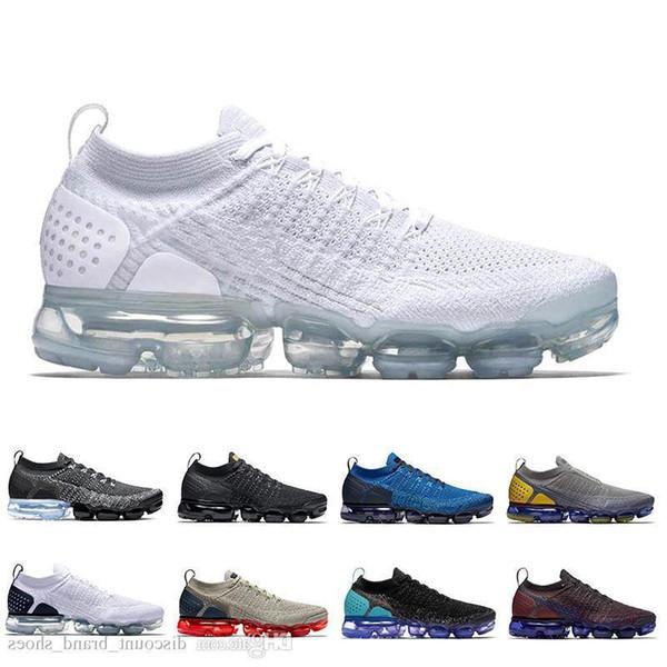 Nova 2019 Chegada Running Shoes Olímpico Triplo Branco Racer Azul Hot Punch Andando Ao Ar Livre Das Mulheres Dos Homens Tênis Esportivos