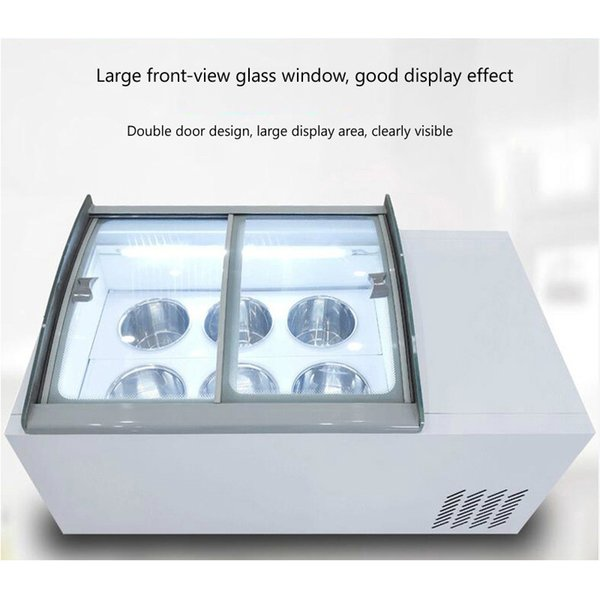 best selling 190W Desktop ice cream display cabinet commercial freezer for cold drinks shop store supermarket ice cream display cabinet